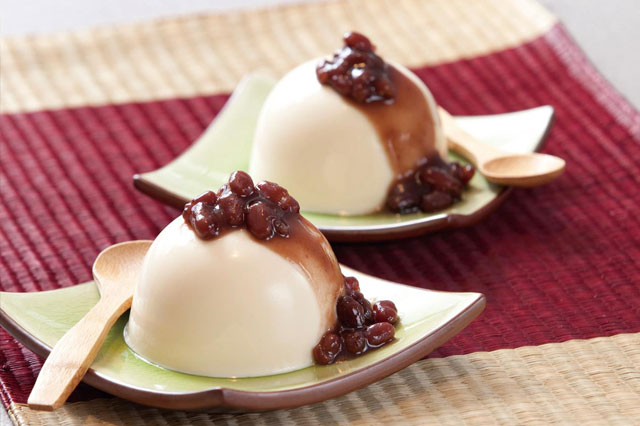 Healthy Red Bean Milk Pudding